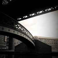 undertherailway - Walking around Castlefield and you can see the layers of industrial history. This photograph shows how Manchester has helped reinvent itself in the modern era. -  print for sale