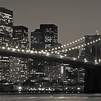 brooklynbridgelights - black and white photography for sale