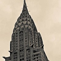 chrysler - black and white photography for sale