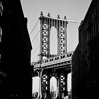 manhattanbridge - black and white photography for sale