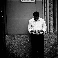 texting - black and white photography for sale