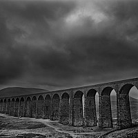ribblehead2 - black and white photography for sale