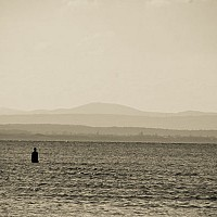 crosbybeach - Anthony Gormley's Another Place, Crosby Beach, Outside Liverpool -  print for sale