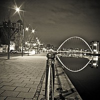 newcastleatnight - Newcastle at night -  print for sale