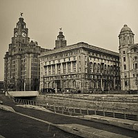threegraces - Liverpool waterfront -  print for sale
