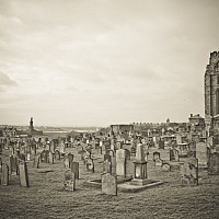 tynemouth - Ruin at Tynemouth -  print for sale