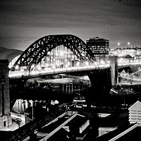 tynespan - Newcastle at night -  print for sale