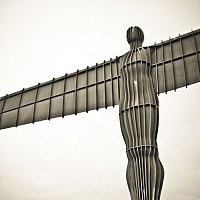 wingsofangel - Anthony Gormley's Angel of the North, Gateshead -  print for sale