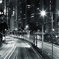 nighttraffic - black and white photography for sale