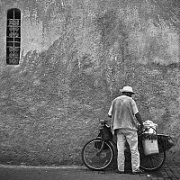atthegates - Man with bicycle, Marrakesh, Morocco, 2007 -  print for sale