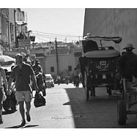 tourists - Tourists in Marrakesh, Morocco, 2007 -  print for sale