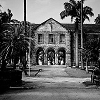 approachtocodrington - Codrington College. This theological college stands on the Eastern side of the Caribbean Island. This photograph was taken in 2009.