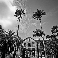 college - Another shot of Codrington College, Barbados. Situated on the Atlantic Ocean, this magnificent Anglican Theological College has magnificent views of the Atlantic Ocean.  -  print for sale