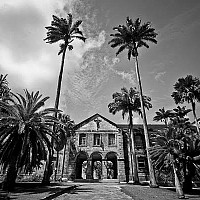 collegeatcodrington - In St John, Barbados. This photograph shows the fabulous Codrington College. Codrington College is still used today.  -  print for sale