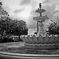 fountaininbridgetown - Fountain in Bridgetown. The capital is a laid back Caribbean town. -  print for sale