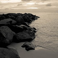 towardssunset - Setting sun,  Barbados.  -  print for sale