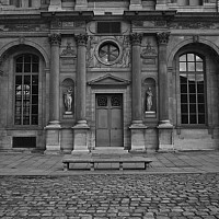 bench - The Louvre, Paris, 2008 -  photograph for sale