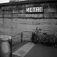bikeortrain - Metro entrance, Paris, 2008 -  photograph for sale