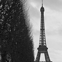 hiding - The Eiffel Tower, Paris, 2008 -  photograph for sale