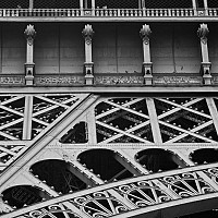 itsinthedetail - Eiffel Tower detail, Paris, 2008 -  photograph for sale