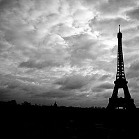 latour - Eiffel Tower over Paris, 2008 -  photograph for sale