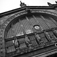 nord - Outside Gare Du Nord, Paris, 2008 -  photograph for sale