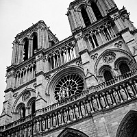 tributetohugo - Notre Dame, Paris, 2008 -  photograph for sale