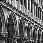 black and white archways photography
