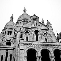 sacrecoeur - black and white photography for sale