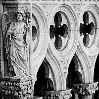 dogespalacestonework - The stonework of the Doge's Palace on St Mark's Square, Venice, Italy. -  print for sale