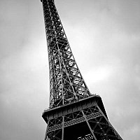 eiffeltowerparis - black and white photography for sale
