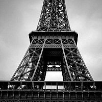 eiffeltowerparis2 - Eiffel Tower in Paris. Built in 1885. This picture was taken in 2008. -  print for sale