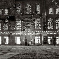 insidebluemosque - Prayers at the Blue Mosque, Istanbul, 2004.  This print is a limited edition of fifty. -  print for sale