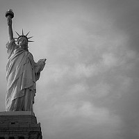 liberty - The Statue of Liberty, a gift from to the American people from the people of France.  -  print for sale