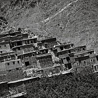 moroccanhillside - Atlas Mountains, Morocco 2007.   This print is a limited edition of fifty. -  print for sale
