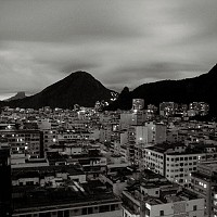 rioatnight - Rio De Janeiro at night, 2005. This print is a limited edition of fifty. -  print for sale