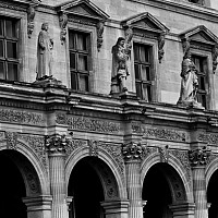 louvrearchways - Detail of the Musee du Louvre, Paris -  print for sale