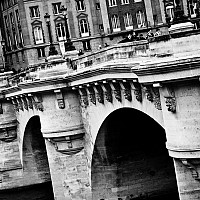 overpontneuf - Pont Neuf Bridge - despite its name, this is the oldest bridge in Paris and dates back to the 16th Century. -  print for sale