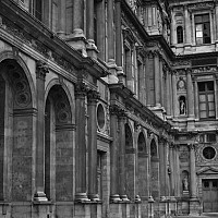 palaisdelouvre - The Louvre.  -  print for sale