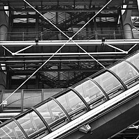 pompidoucentre - The Centre Georges Pompidou  is a modern space in the Beaubourg area of the 4th arrondissement of Paris. -  print for sale