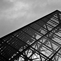 pyramid - The glass and steel design of I M Pei's masterpiece. -  print for sale