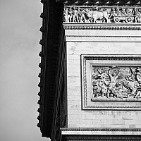 triomphedetail2 - Another shot of the Arc De Triomphe. This monument sits on L'Etoile, in the middle of the Champs Elysees. -  print for sale
