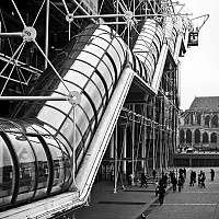 vein - External shot of the Pompidou Centre.  -  print for sale