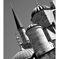 bluemosque2 - The Sultan Ahmed or Blue Mosque, Istanbul. Named after the blue Izmir tiles that adorn its roof -  print for sale