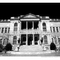 dolmabahce - The Dolmabahce Palace on the Bosphorus, Istanbul. -  print for sale