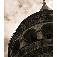 galata - Galata Tower. The name means Royal Tower. -  print for sale