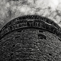 galataclose - The Galata Tower stands overlooking the Bosphorous Straight in Istanbul. -  print for sale