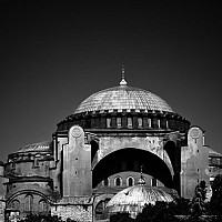 haghia - The Haghia Sophia Mosque in Istanbul has been a Mosque and a church. Today it is a secular building.  -  print for sale