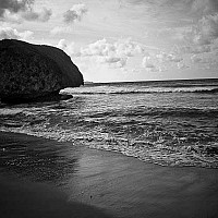 bathsheba - Bathsheba Beach. This shot shows stunning beach on the East coast of the island. Bathsheba is fishing village and home to around 5000 people.  -  print for sale