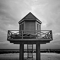 beachhut - black and white photography for sale